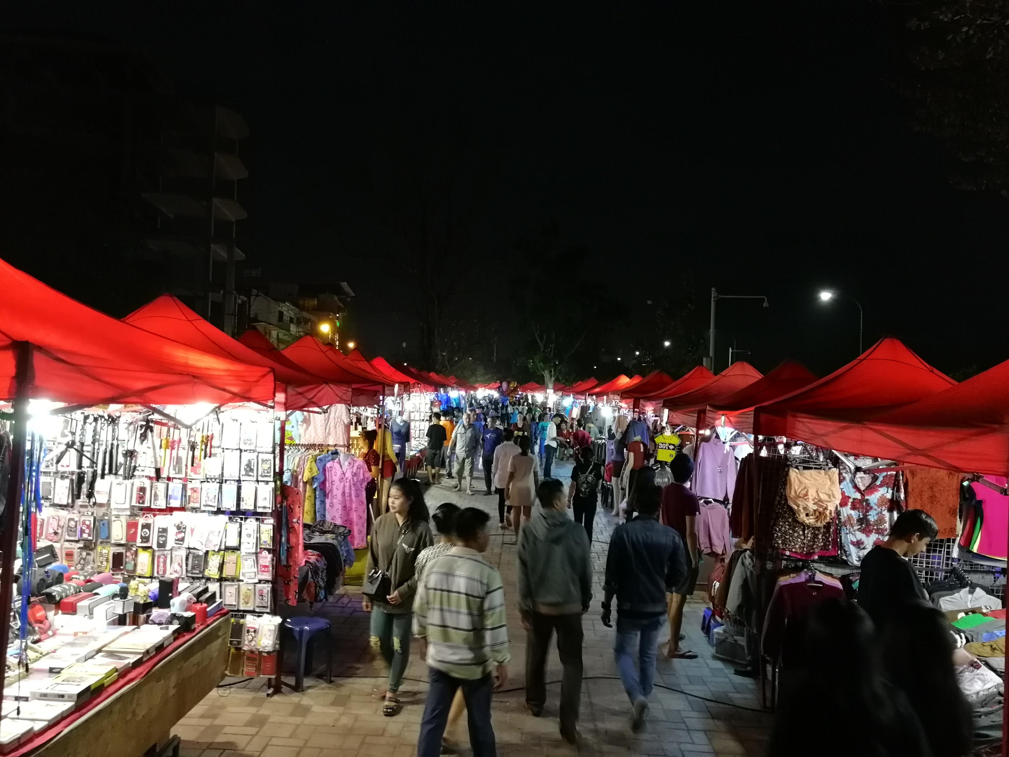Night Market Ventiane, Laos